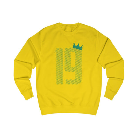 19 Crown - Green Font - Men's Sweatshirt