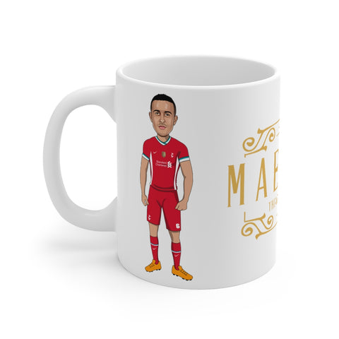 Maestro - Thiago Alcantara Caricature Mug (White Background)