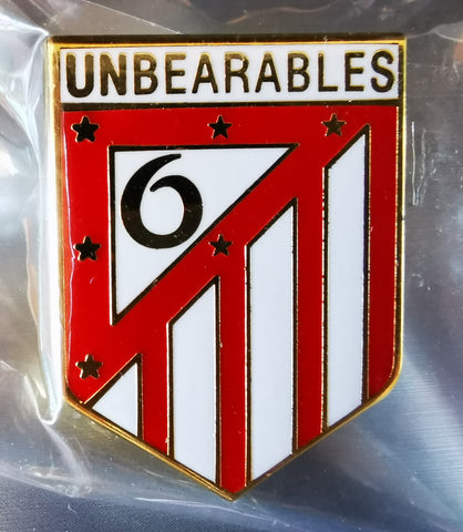 Liverpool LFC Unbearables 6 Times Pin Badge