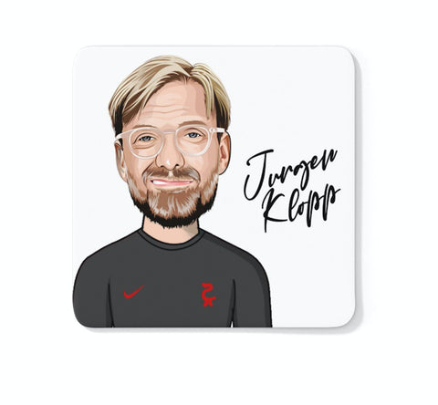 Jürgen Klopp - Liverpool FC Caricature LFC Coaster (White Background)