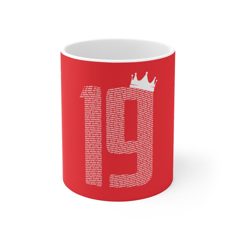 19 Crown Champions 19/20 Mug (White Print on Red)