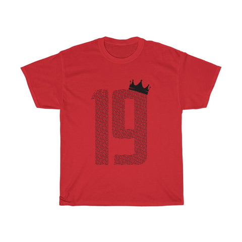 19 Crown - Champions 19/20 T-Shirt - Black Print