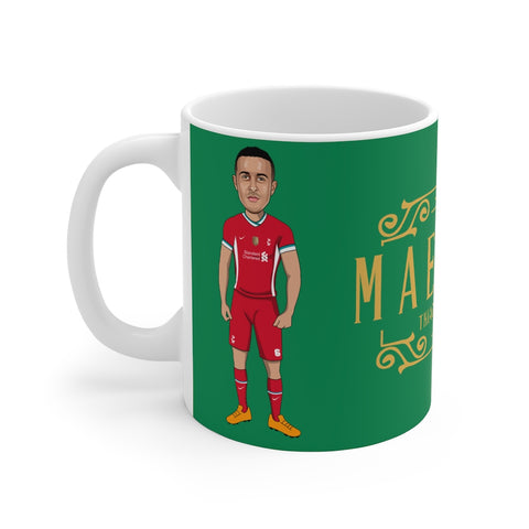 Maestro - Thiago Alcantara Caricature Mug (Green Background)