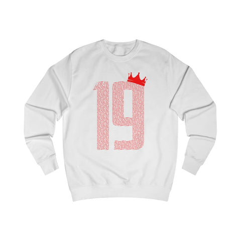 19 Crown - Red Font - Men's Sweatshirt