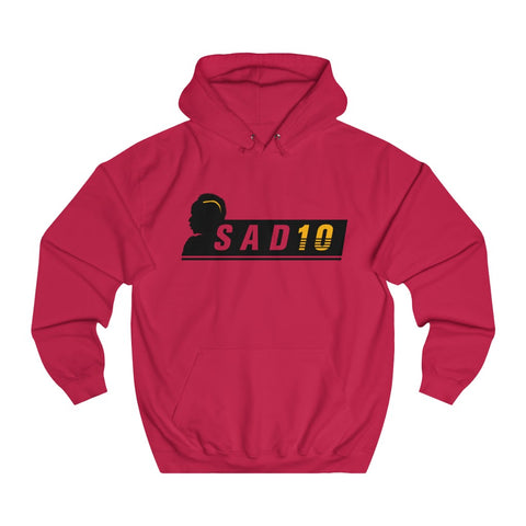 SAD10 - Unisex Hoodie - Black/Yellow Design