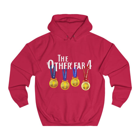 The Other Fab 4 - White Font - Unisex College Hoodie