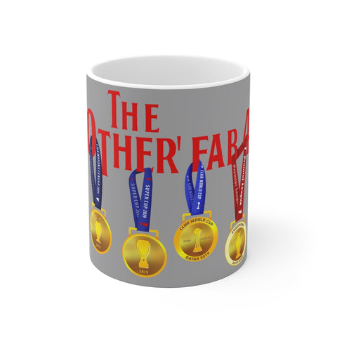 The Other Fab 4 - Champions 19/20 Mug (Red Text on Grey)