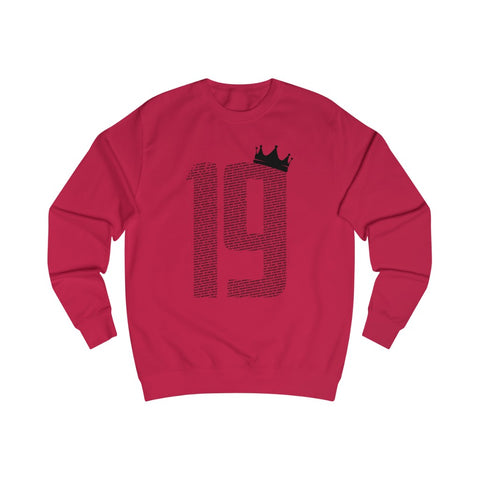 19 Crown - Black Font - Men's Sweatshirt