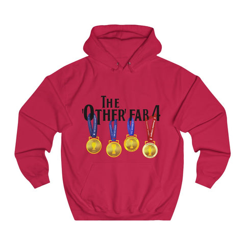 The Other Fab 4 - Black Font - Unisex College Hoodie