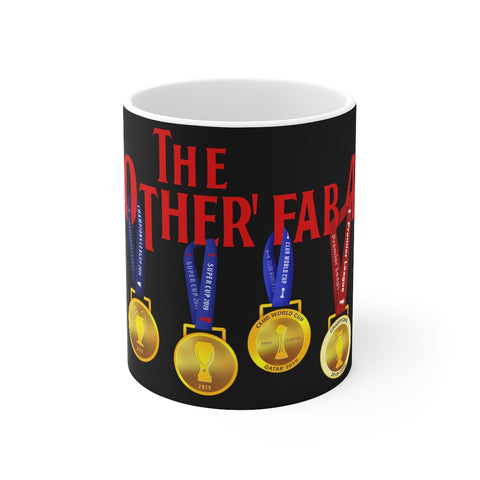 The Other Fab 4 - Champions 19/20 Mug (Red Text on Black)