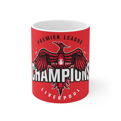 Champions 19/20 Big Bird Mug (White & Black Print on Red)