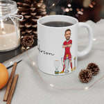 Henderson 3 Trophies Caricature Mug (White Background)