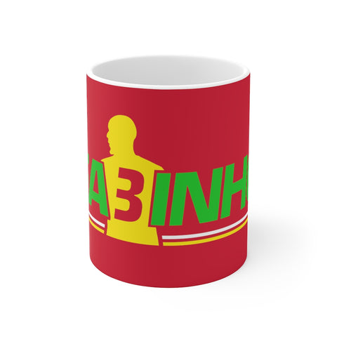 FA3INHO (Fabinho) Mug (Green/Yellow Print on Red)