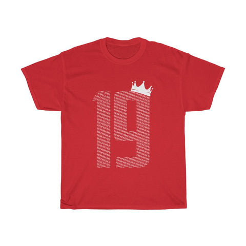 19 Crown - Champions 19/20 T-Shirt - White Print