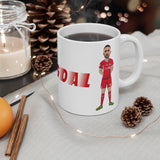 Diogoal - Diogo Jota Caricature Mug (White Background)
