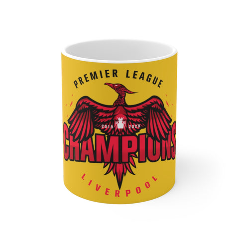 Champions 19/20 Big Bird Mug (Black & Red Print on Yellow)