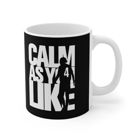 Calm As You Like VVD Mug (White Print on Black)