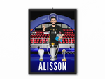 Alisson - Champions 19/20 Caricature Illustration Print - A3, A4 or A5