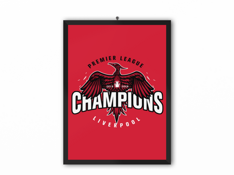 Champions 19/20 Bird Print Red - A3, A4 or A5