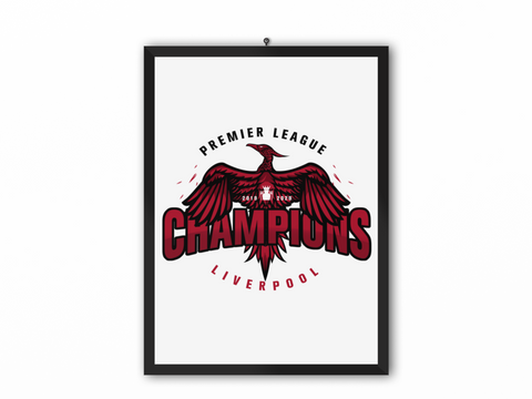 Champions 19/20 Bird Print White - A3, A4 or A5