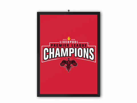 Champions 19/20 Print Red - A3, A4 or A5