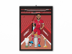 Joe Gomez - Liverpool 20/21 Caricature Illustration Print - A3, A4 or A5