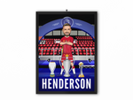Jordan Henderson - Champions 19/20 Caricature Illustration Print - A3, A4 or A5