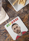 Diogo Jota - Liverpool FC Caricature LFC Coaster (White Background)