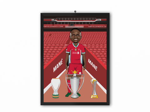 Sadio Mane - Liverpool 20/21 Caricature Illustration Print - A3, A4 or A5