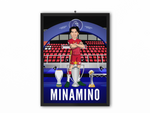 Takumi Minamino - Champions 19/20 Caricature Illustration Print - A3, A4 or A5