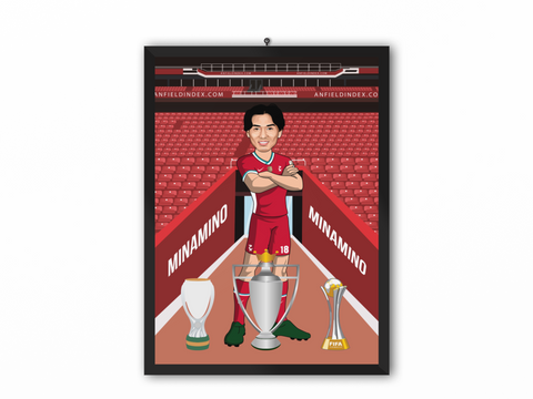 Takumi Minamino - Liverpool 20/21 Caricature Illustration Print - A3, A4 or A5
