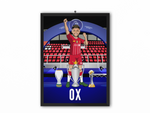 Alex Oxlade-Chamberlain - Champions 19/20 Caricature Illustration Print - A3, A4 or A5