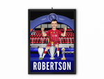 Andrew Robertson - Champions 19/20 Caricature Illustration Print - A3, A4 or A5