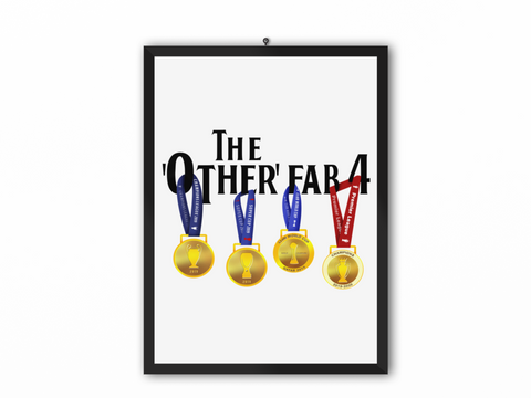 The Other Fab 4 - Champions 19/20 Print (Black Text) - A3, A4 or A5