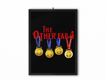The Other Fab 4 - Champions 19/20 Print (Red Text) - A3, A4 or A5