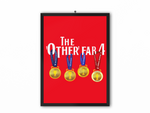 The Other Fab 4 - Champions 19/20 Print (White Text) - A3, A4 or A5