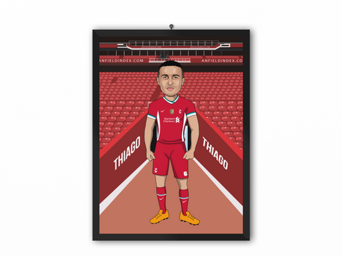 Thiago Alcantara - Liverpool 20/21 Caricature Illustration Print - A3, A4 or A5