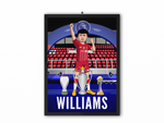 Neco Williams - Champions 19/20 Caricature Illustration Print - A3, A4 or A5