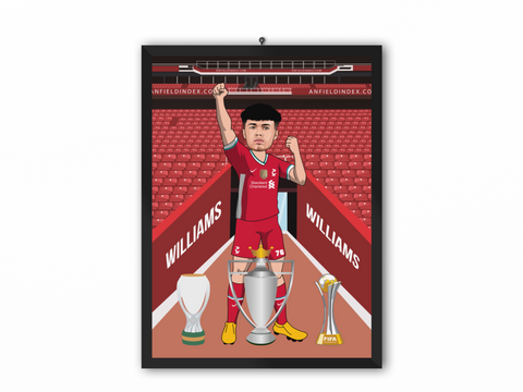 Neco Williams - Liverpool 20/21 Caricature Illustration Print - A3, A4 or A5