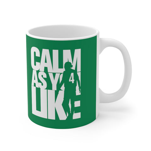 Calm As You Like VVD Mug (White Print on Green)