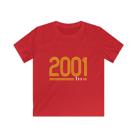 2001 Retro - Yellow Text (Kids)