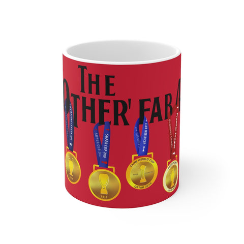 The Other Fab 4 - Champions 19/20 Mug (Black Text on Red)