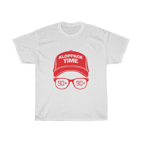 Kloppage Time - Jurgen Klopp Inspired T-Shirt - Red Print
