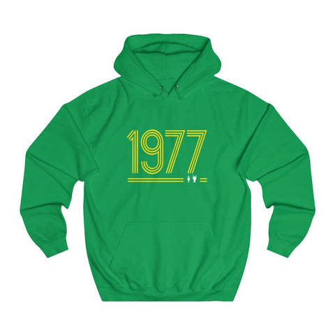 Retro 1977 - Unisex Hoodie - Yellow Design