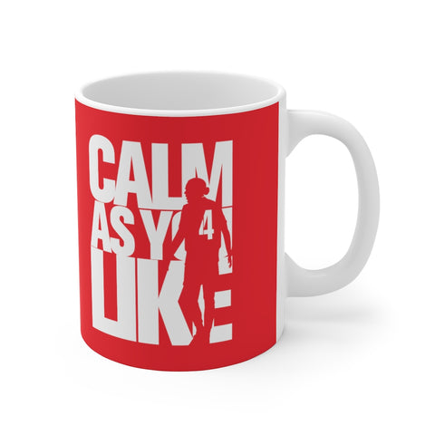 Calm As You Like VVD Mug (White Print on Red)