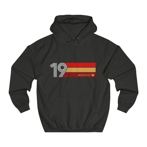 Undisputed 19 (On Black) - Unisex College Hoodie