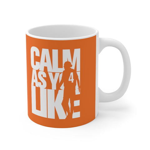 Calm As You Like VVD Mug (White Print on Orange)