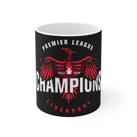 Champions 19/20 Big Bird Mug (White & Red Print on Black)