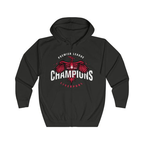 Small Bird LFC Champions 19/20 Full Zip Hoodie (Red Text)