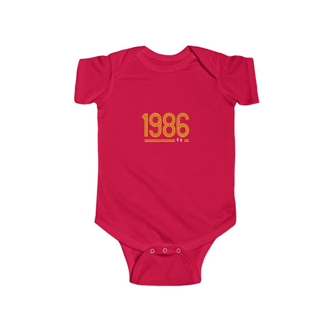 Retro 1986 - Yellow Text (Baby)